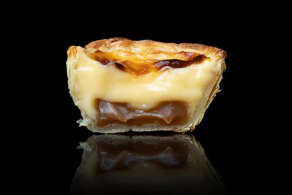 salted caramel flavour pastel de nata
